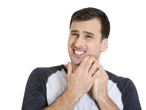 A man suffering from an oral infection.